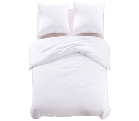 acheter vidaxl jeu de housse de couette 3 pcs blanc 200 x 220 80 x 80 cm pas cher. Black Bedroom Furniture Sets. Home Design Ideas