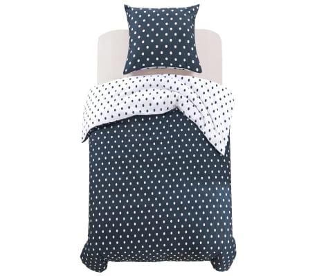 vidaxl 2 tlg bettw sche set gepunktet 155x200 80x80 cm g nstig kaufen. Black Bedroom Furniture Sets. Home Design Ideas