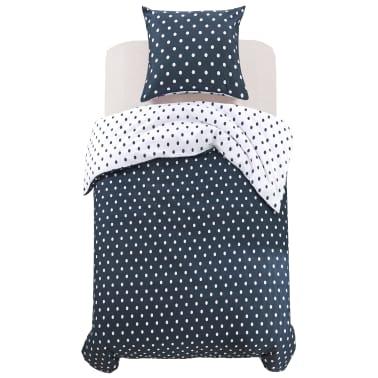 vidaxl 2 tlg bettw sche set gepunktet 155x220 80x80 cm g nstig kaufen. Black Bedroom Furniture Sets. Home Design Ideas