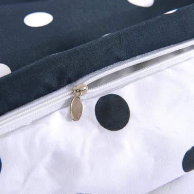 vidaxl 2 tlg bettw sche set gepunktet 155x220 80x80 cm. Black Bedroom Furniture Sets. Home Design Ideas
