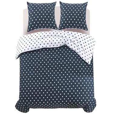 vidaxl 3 tlg bettw sche set gepunktet 200x220 60x70 cm g nstig kaufen. Black Bedroom Furniture Sets. Home Design Ideas