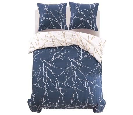 vidaxl 3 tlg bettw sche set zweigmotiv 200x200 80x80 cm g nstig kaufen. Black Bedroom Furniture Sets. Home Design Ideas