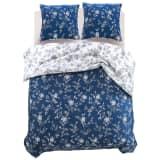 vidaXL sengesæt i tre dele blomsterprint 200 x 220/80 x 80 cm
