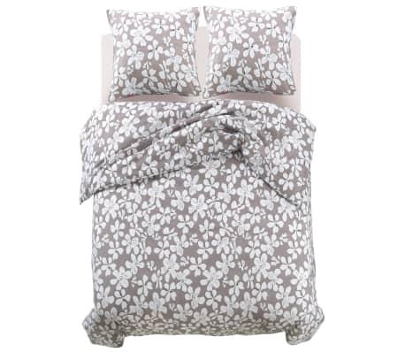 vidaxl 3 tlg bettw sche set blumenprint 200x200 80x80 cm g nstig kaufen. Black Bedroom Furniture Sets. Home Design Ideas