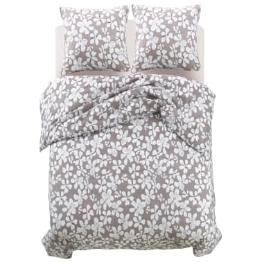 vidaxl 3 tlg bettw sche set blumenprint 200x200 80x80 cm im vidaxl trendshop. Black Bedroom Furniture Sets. Home Design Ideas