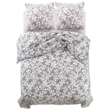 vidaXL Three Piece Duvet Cover Set Floral Print 200x220/80x80 cm