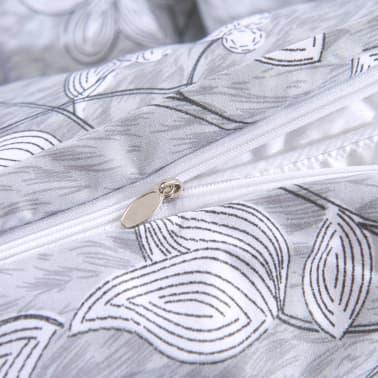 vidaxl 3 tlg bettw sche set streifen blumenprint 200x200 80x80 cm im vidaxl trendshop. Black Bedroom Furniture Sets. Home Design Ideas