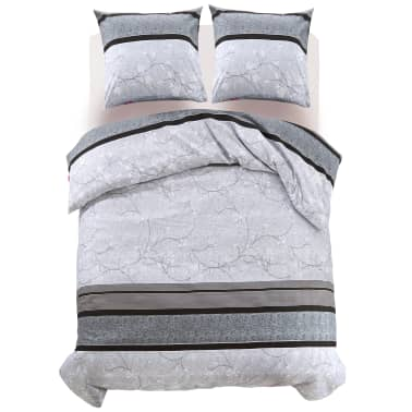 vidaxl 3 tlg bettw sche set streifen blumenprint 200x200. Black Bedroom Furniture Sets. Home Design Ideas
