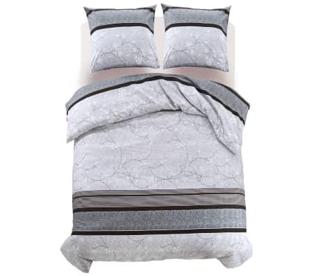 vidaxl 3 tlg bettw sche set streifen blumenprint 240x220 60x70 cm g nstig kaufen. Black Bedroom Furniture Sets. Home Design Ideas