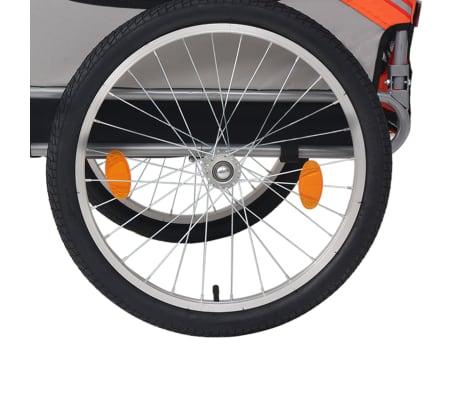 vidaXL Hunde-Fahrradanhänger Orange und Grau[4/6]