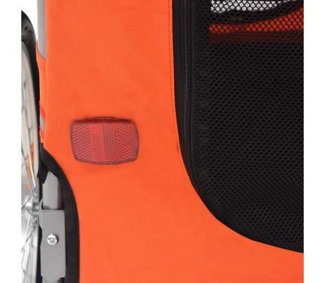vidaXL Hunde-Fahrradanhänger Orange und Grau[5/6]