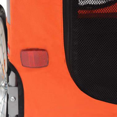vidaXL Cykelvagn för hund orange och grå[5/6]