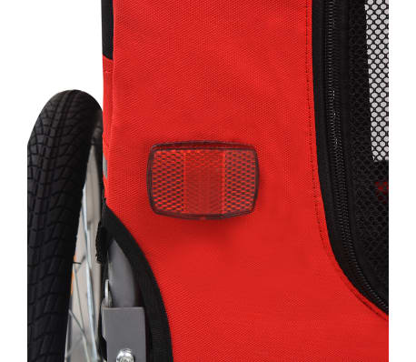 vidaXL Dog Bike Trailer Red and Black[5/6]