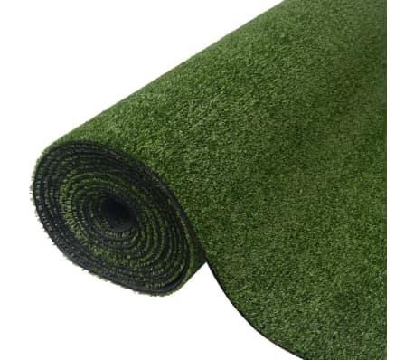 vidaXL Umetna trava 0,5x5 m/7-9 mm zelena