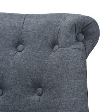 vidaXL Sofa, audinys, 94x67x76cm, tamsiai pilkos spalvos[4/5]