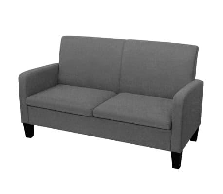 vidaXL Dvivietė sofa, 135x65x76, tamsiai pilka