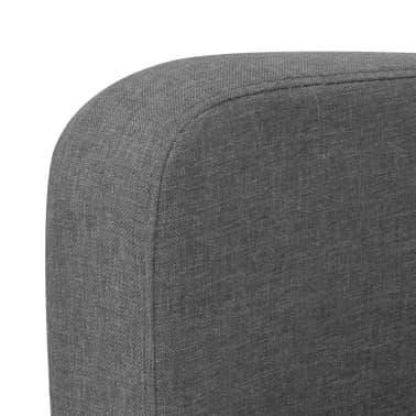 vidaXL Sofá de 2 plazas 135x65x76 cm gris oscuro[3/4]