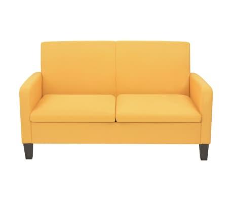 vidaXL Sofá de 2 plazas 135x65x76 cm amarillo[2/4]