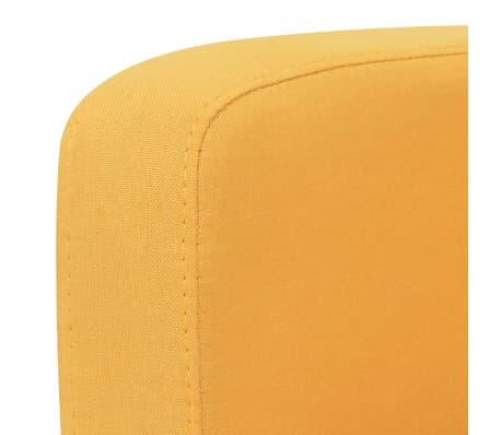 vidaXL Sofá de 2 plazas 135x65x76 cm amarillo[3/4]