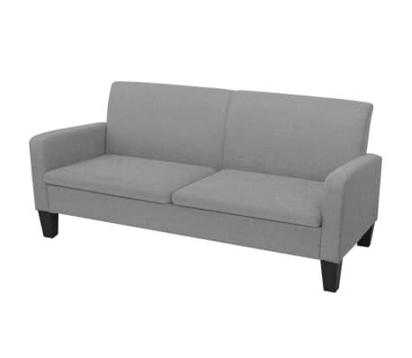 vidaXL Trivietė sofa, 180x65x76, šviesiai pilka