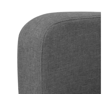 vidaXL Trivietė sofa, 180x65x76, tamsiai pilka[3/4]