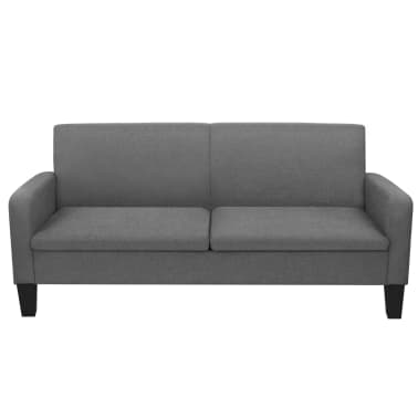 vidaXL Trivietė sofa, 180x65x76, tamsiai pilka[2/4]