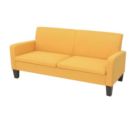 vidaXL 3-sitssoffa 180x65x76 cm gul