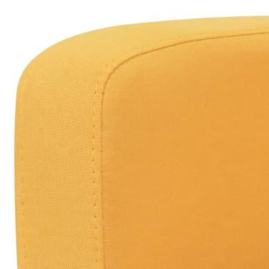 vidaXL Trivietė sofa, 180x65x76, geltonos spalvos[3/4]