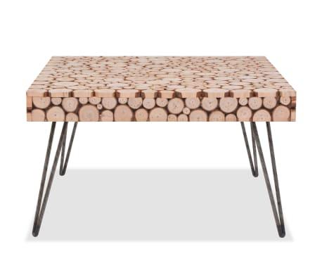 vidaXL Beistelltisch Echtholz 60,8 x 60,8 x 34,5 cm[2/6]