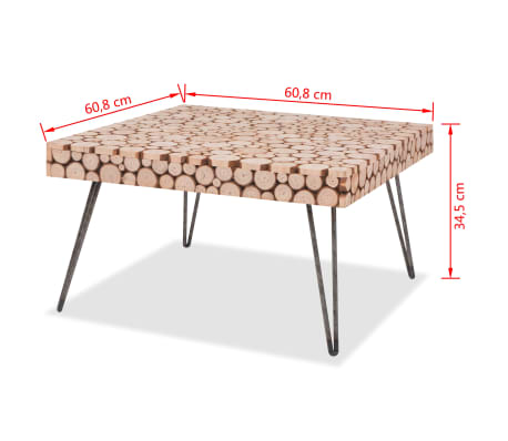 vidaXL Beistelltisch Echtholz 60,8 x 60,8 x 34,5 cm[6/6]