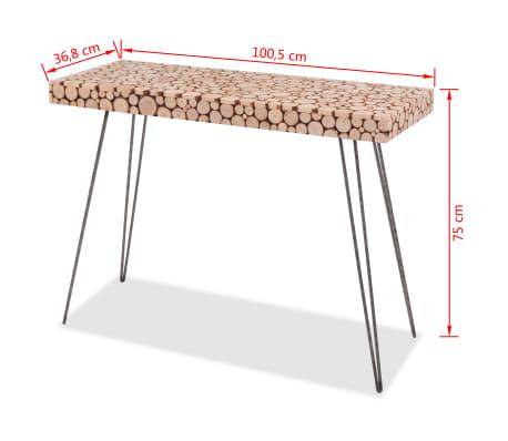 vidaXL Wandtafel 100,5x36,8x75 cm echt hout[6/6]