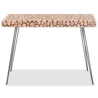 vidaXL Wandtafel 100,5x36,8x75 cm echt hout[2/6]
