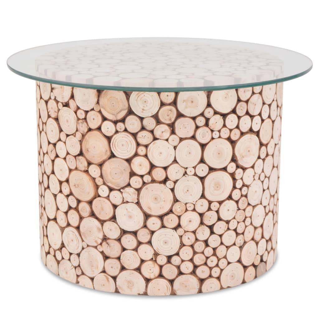 vidaXL Stolik kawowy z prawdziwego drewna, 60,5 x 40 cm