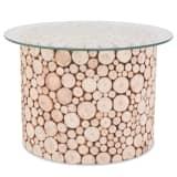 vidaXL valódi fa dohányzóasztal 60,5 x 40 cm