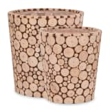 vidaXL Donice ogrodowe, 2 szt., prawdziwe drewno jodłowe