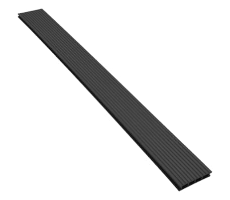 vidaXL WPC Decking Boards with Accessories 2 m² Anthracite[4/9]