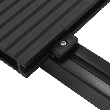 vidaXL WPC Decking Boards with Accessories 2 m² Anthracite[7/9]