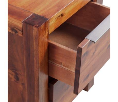 vidaXL Bed with Nightstands Solid Acacia Wood Brown Queen Size[14/14]