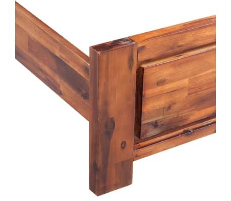 vidaXL Bed with Nightstands Solid Acacia Wood Brown Queen Size[8/14]