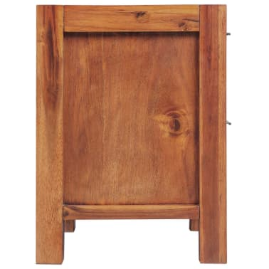 vidaXL Bed with Nightstands Solid Acacia Wood Brown Queen Size[12/14]