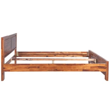 vidaXL Bed with Nightstands Solid Acacia Wood Brown King Size[5/14]