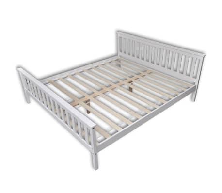 vidaxl doppelbett mit matratze kiefer massiv 180 x 200 cm wei g nstig kaufen. Black Bedroom Furniture Sets. Home Design Ideas