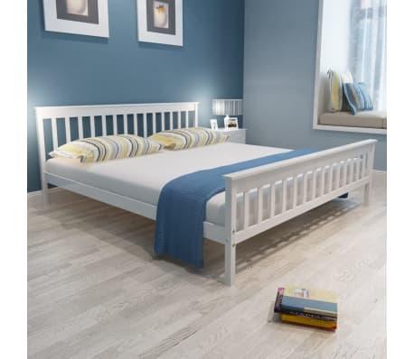 vidaxl doppelbett mit memory matratze eiche massiv 180 x 200 cm wei g nstig kaufen. Black Bedroom Furniture Sets. Home Design Ideas