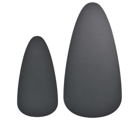 vidaXL Ensemble de tables basses 2 pcs Bois de pin massif Noir[6/12]