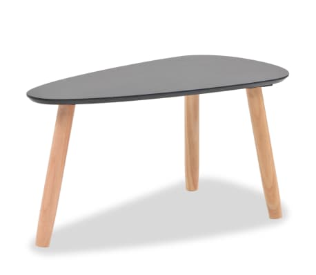 vidaXL Ensemble de tables basses 2 pcs Bois de pin massif Noir[8/12]