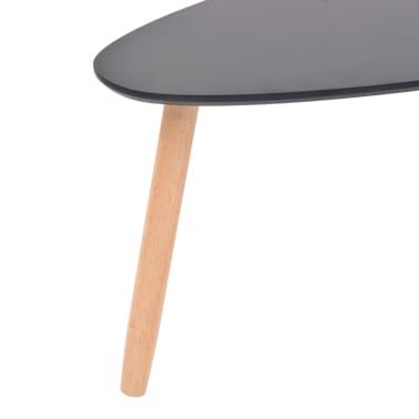 vidaXL Ensemble de tables basses 2 pcs Bois de pin massif Noir[9/12]