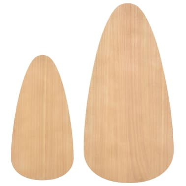 vidaXL Ensemble de tables basses 2 pcs Bois de pin massif Marron[7/12]