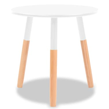 vidaXL Side Table Set 2 Pieces Solid Pinewood White[5/9]