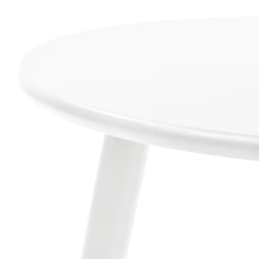vidaXL Side Table Set 2 Pieces Solid Pinewood White[6/9]
