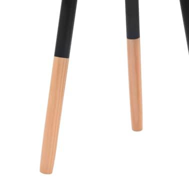 vidaXL Súprava 2 čiernych odkladacích stolíkov, masívne borovicové drevo[7/9]